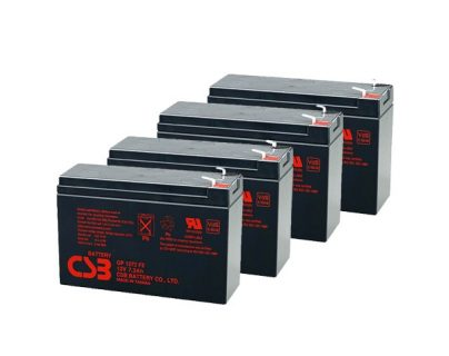 APC UPS RBC8/RBC23/RBC24/RBC25/RBC31/RBC57/RBC59 Replacement battery 4x CSB GP1272 F2 terminal