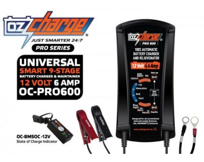Oz Charge Pro Series 12 Volt / 6 Amp 9-Stage Battery Charger and Maintainer