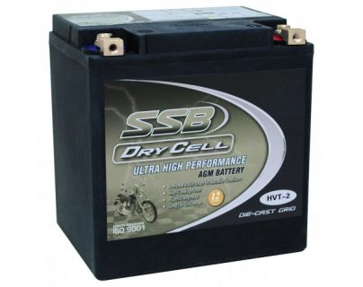SSB HVT-2 Ultra High Performance AGM Motorcycle Battery – CCA: 515